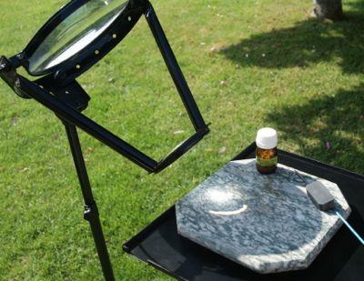 ¡calcinación solar del antimonio : la prueba alquímica irrefutable!